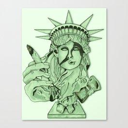 Liberal Lady Liberty Canvas Print