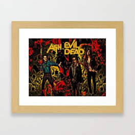 Ash Faces Many Evils Framed Art Print