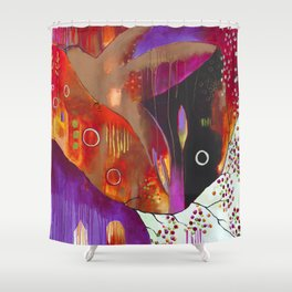 """Reflect You"" Original Painting by Flora Bowley Shower Curtain"