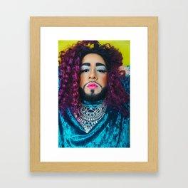 Karla Croqueta Portrait Framed Art Print