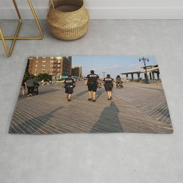 Beach Cops on Patrol Rug