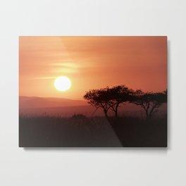Sunrise in Maasai Mara Metal Print