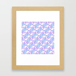 Pixel Crystal (pattern) Framed Art Print
