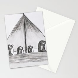 Sailing Penguins Stationery Cards