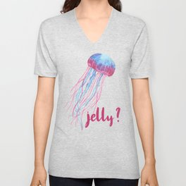 Jelly? Jealousy Jellyfish Unisex V-Neck