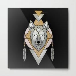 Mystic Wolf Metal Print