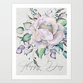 Happy Day – Pastel Rose. Art Print
