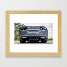 Batvette Rear Low Framed Art Print