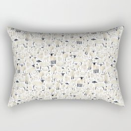 Watercolour Sheep Rectangular Pillow
