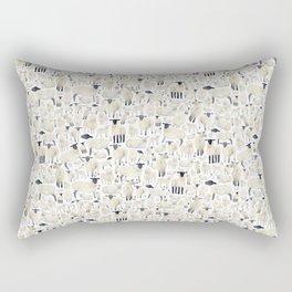 Watercolour Sheep Rectangular Pillow