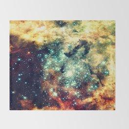 galaxy nebula stars Throw Blanket