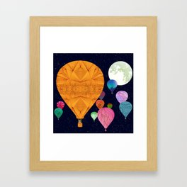 Hot Air Balloons Framed Art Print
