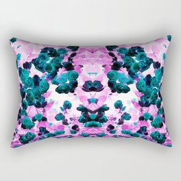 Negative Roses Print Rectangular Pillow