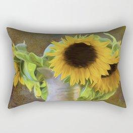 It's What Sunflowers Do - Flower Art Rectangular Pillow
