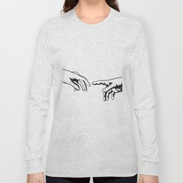 Adam and God hands Long Sleeve T-shirt