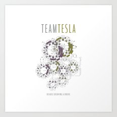 Team Tesla Art Print