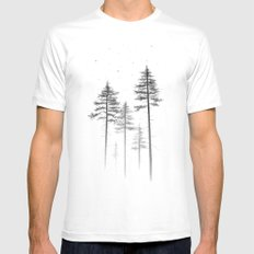 Look Up White MEDIUM Mens Fitted Tee