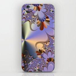 Metallic Shine with Fractals iPhone Skin