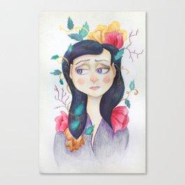 Purple Wilt Canvas Print