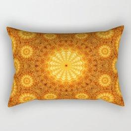 Sun Orb Mandala Rectangular Pillow