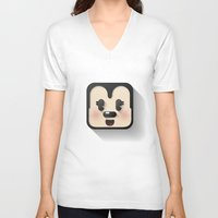 minnie mouse V-neck T-shirts featuring minnie mouse cutie by designoMatt