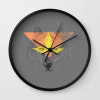 beast Wall Clocks featuring Beast by Hello Heart