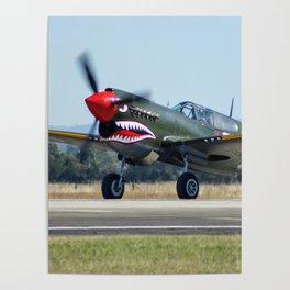 VH-ZOC Curtiss P-40N Warhawk Poster