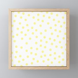 Simply Dots in Pastel Yellow Framed Mini Art Print