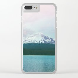 Mountain Lake - Nature Photography - Turquoise Teal Pink Clear iPhone Case