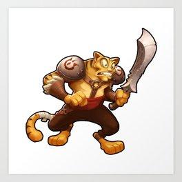 Battle Cat Art Print