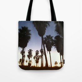 California Palm Trees at Sunset Tote Bag
