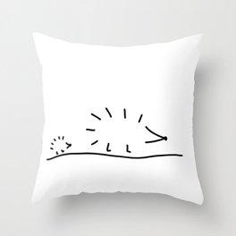 hedgehogs spur Throw Pillow