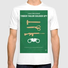 No787 My Tinker Tailor Soldier Spy minimal movie poster Mens Fitted Tee White MEDIUM
