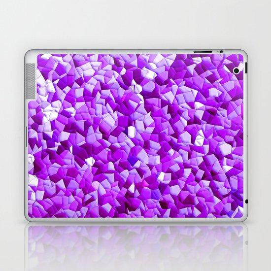 random purple shapes Laptop & iPad Skin
