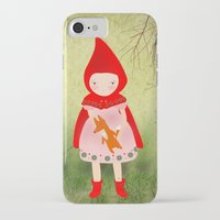 red hood iPhone & iPod Cases featuring Little red riding hood by munieca