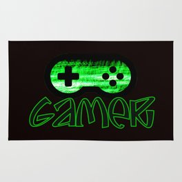Gamer Green Rug