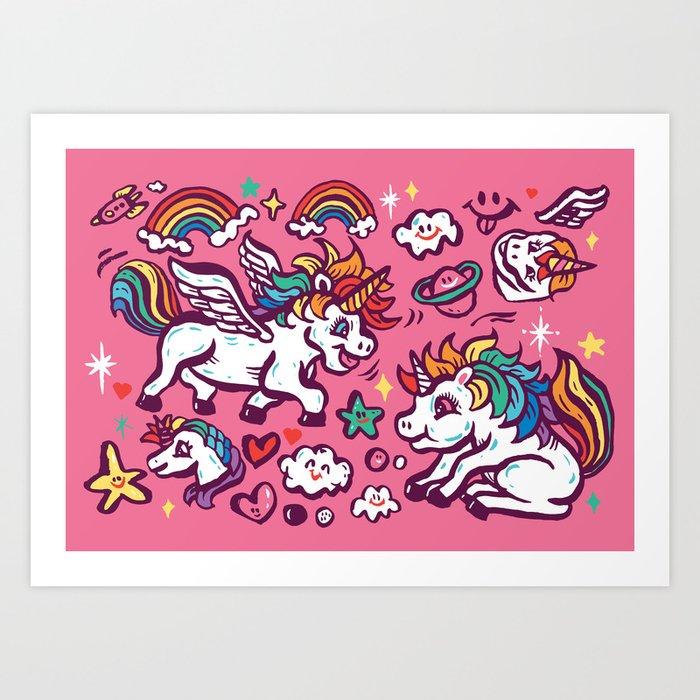 Baby unicorns Kunstdrucke