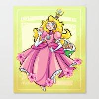 princess peach Canvas Prints featuring Princess Peach by Chicken