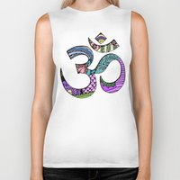 ohm Biker Tanks featuring Ohm by Ilse S