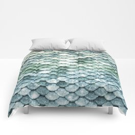 Pastel Mermaid Tail Blue Green Comforters