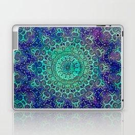 Aqua and Violet Mandala Lace Laptop & iPad Skin