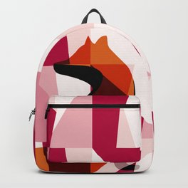 Fox Geometric Pattern Backpack