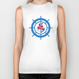 Anchor and steering wheel Biker Tank