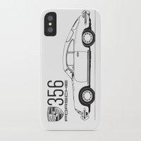 porsche iPhone & iPod Cases featuring porsche 356 by kartalpaf