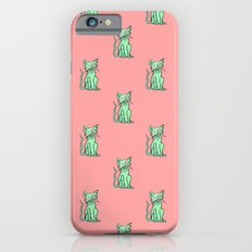 Crazy Cat (Green/Red) Slim Case iPhone 6s