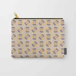 Simple geometric discs pattern yellow and taupe Carry-All Pouch