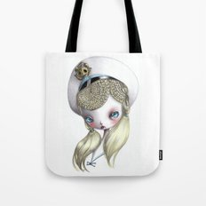 Girl in Uniform Tote Bag