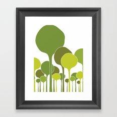 Green palette Framed Art Print