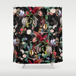 Floral and Birds IX Shower Curtain