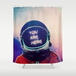 Where You Are Shower Curtain